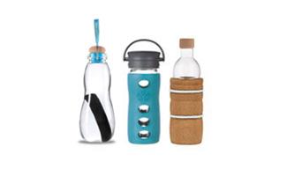 hochwertige glas trinkflasche bei kivanta bestellen seite 1 von 2. Black Bedroom Furniture Sets. Home Design Ideas