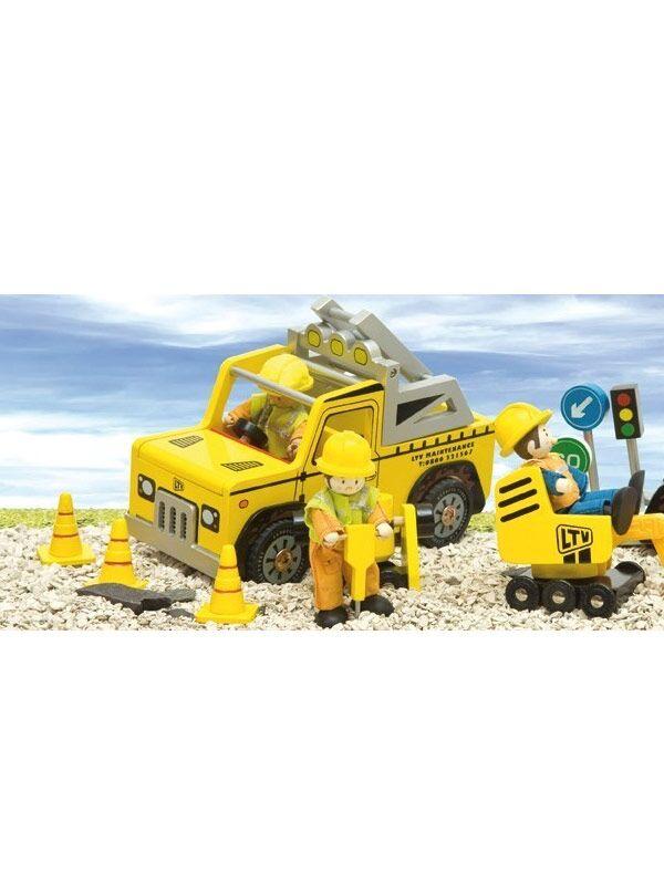 Große baustellenfahrzeuge von le toy van