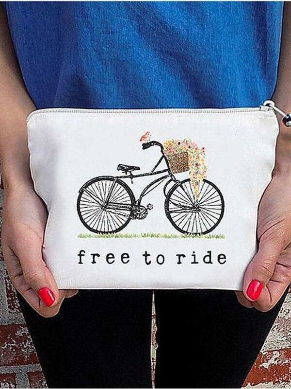 The Tote Project Handtasche / Clutch -  free to ride (Fahrrad)