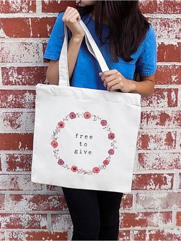 The Tote Project Handtasche mit Magnetverschluss -  free to give