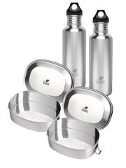 Kivanta Schulstarter-Set: 2 x Trinkflasche 750 ml + 2 x Lunchbox XL