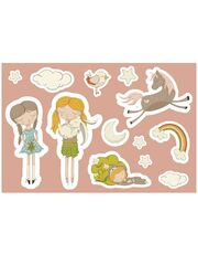 LunchBuddy Sticker-Set für Brotdose & Co - Friends & Camping
