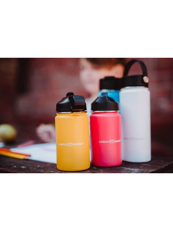 LunchBuddy 350 ml Wide S Isolierflasche (Mix&Match) - Gletscherblau